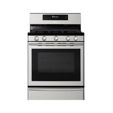 Samsung 5.8-Cu.Ft. Gas Range with True Convection, Stainless Steel (NX58H5650WS)