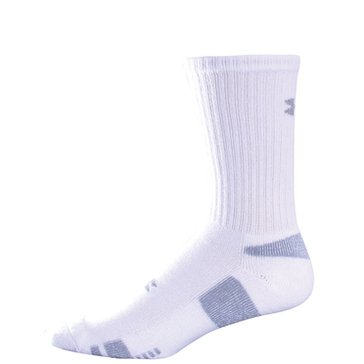 Under Armour Men's Crew Blend 3-Pack Socks - White