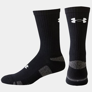 Under Armour Crew Blend 3PK Socks - Black
