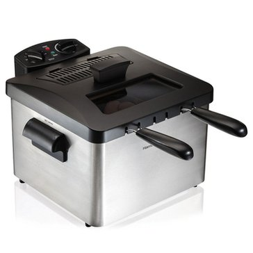 Hamilton Beach Professional-Style Double Basket Deep Fryer (35034)
