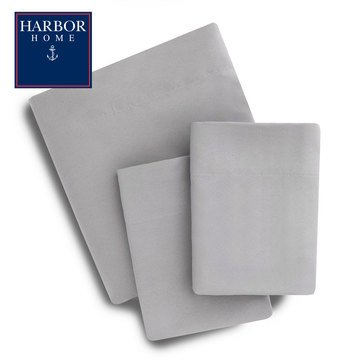Harbor Home Microfiber Sheet Set, Grey - Queen