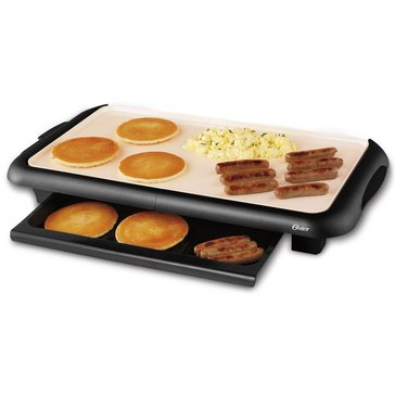 Oster Titanium Infused DuraCeramic Griddle with Warming Tray (CKSTGRFM18W-TECO)