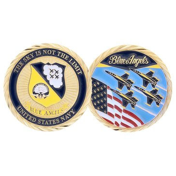 CC BLUE ANGELS USA FLAG COIN