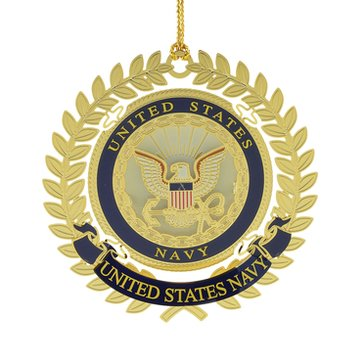 Chemart United States Navy Logo Military Keepsakes Ornament