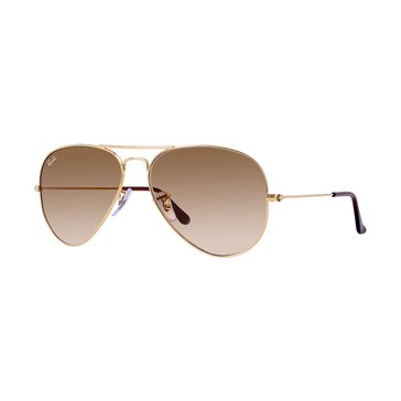 Ray-Ban Unisex Aviator Classic Sunglasses Gold/Light Brown Gradient 58mm