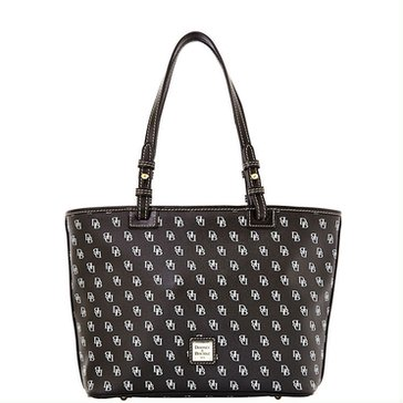 Web Exclusive! Dooney & Bourke Gretta Small Leisure Shopper Black
