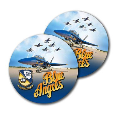 Sparta USN Blue Angels Sublimated Hardboard 2-Pack Coasters