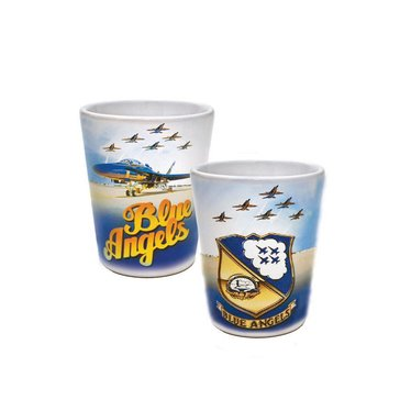 Sparta Pewter USN Blue Angels Sublimated Ceramic Shot Glass