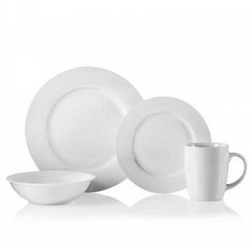 Oneida 16-Piece Naturally White Dinnerware Set