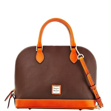 Dooney & Bourke Pebble Zip Zip Satchel Chocolate