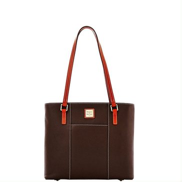 Dooney & Bourke Pebble Small Lexi Shopper Chocolate
