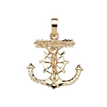 10K Mariners Cross Charm