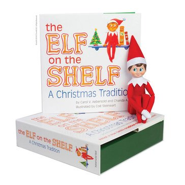 The Elf On The Shelf, A Christmas Tradition Book & Elf Set (Blue-Eyed Boy)