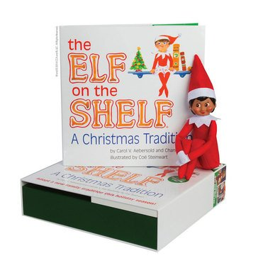 The Elf On The Shelf, A Christmas Tradition Book & Elf Set (Brown-Eyed Girl)