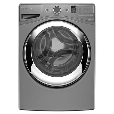 Whirlpool 4.3 -Cu.Ft. Duet Steam Front Load Washer, Chrome (WFW87HEDC)