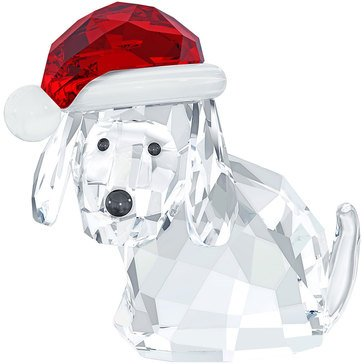 Swarovski Dog With Santa's Hat