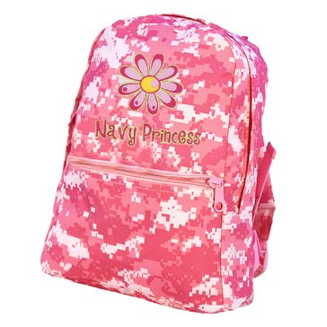 Flying Circle Children's Backpack Small Pink Camo