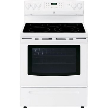 Kenmore 5.4-Cu.Ft. Electric Range w/ Convection Oven, White (22-94192)