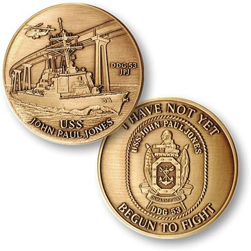 USN USS John Paul Jones Coin