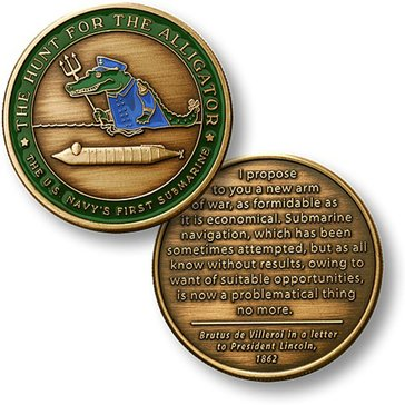 USN USS Alligator Coin