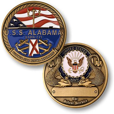 USN USS Alabama Coin