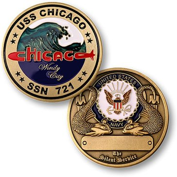 USN USS Chicago SSN 721 Coin