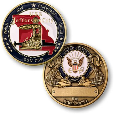 USN USS Jefferson City SSN-759 Coin