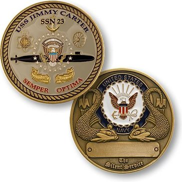 USN USS Jimmy Carter Coin