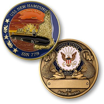 USN USS New Hampshire SSN-778 Coin