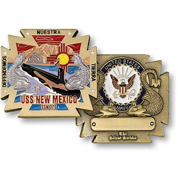USN USS New Mexico SSN-779 Coin