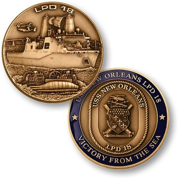USN USS New Orleans LPD-18 Coin