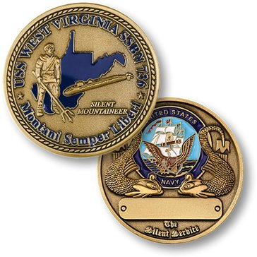 USN USS West Virginia SSBN-736 Coin
