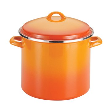 Rachael Ray Enamel On Steel 12-Quart Stockpot w/ Lid