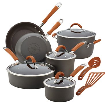 Rachael Ray Cucina 12-Piece Hard Anodized Cookware Set