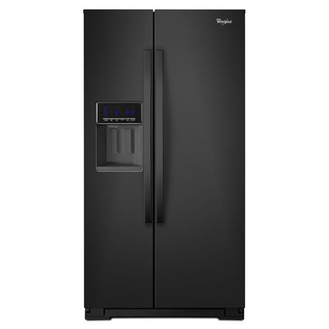 Whirlpool 26-Cu.Ft. Side-by-Side Refrigerator, Black (WRS576FIDB)