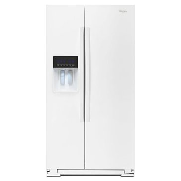 Whirlpool 26-Cu.Ft. Side-by-Side Refrigerator, White (WRS576FIDW)