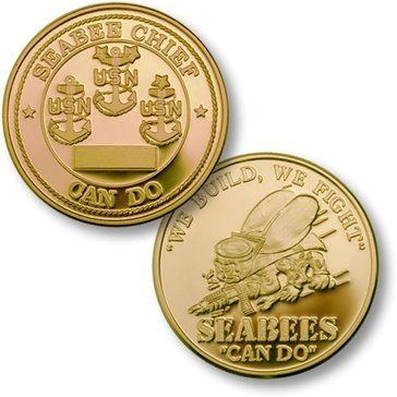 Seabee Chief Gold Coin