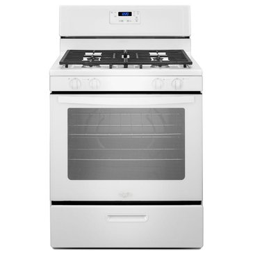 Whirlpool 5.1-Cu.Ft. Freestanding Gas Range with Under-Oven Broiler, White (WFG320M0BW)
