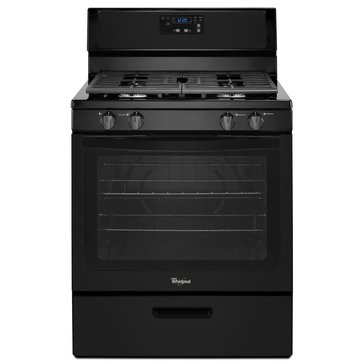 Whirlpool 5.1-Cu.Ft. Freestanding Gas Range with Under-Oven Broiler, Black (WFG320M0BB)