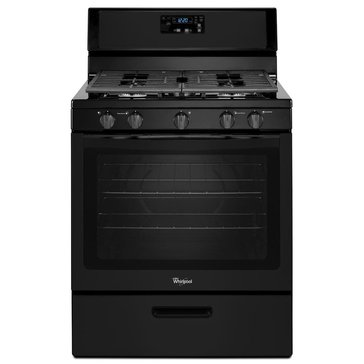 Whirlpool 5.1-Cu.Ft. Freestanding Gas Range w/ 5 Burners, Black (WFG505M0BB)