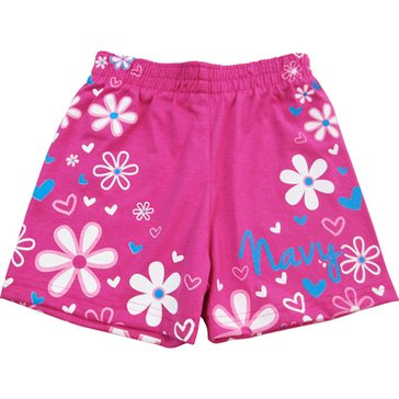Third Street Sportswear Toddler Girl's USN Floral Wrap Cotton Shorts