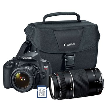 Canon EOS T5 DSLR Camera Bundle with 2 Lenses- EF-S 18-55 & 75-300-Camera Case & 8GB Memory Card