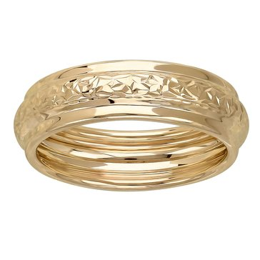 Women's 14K Gold Textured Band