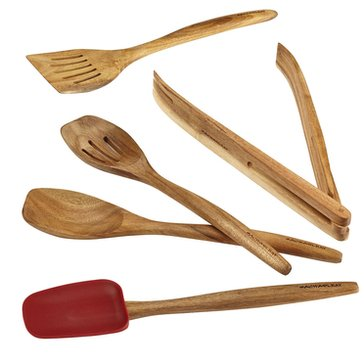 Rachael Ray Cucina 5-Piece Acacia Wood Tool Set