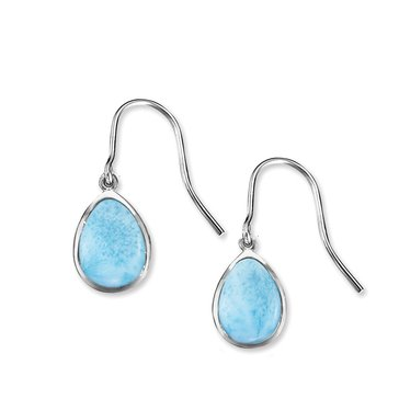 Marahlago Sterling Silver Larimar Earrings