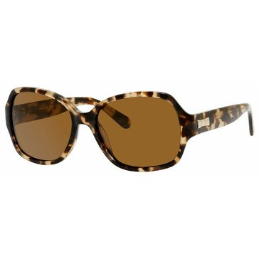 Kate Spade Women's Laney Polarized Camel Tortoise Sunglasses 57mm