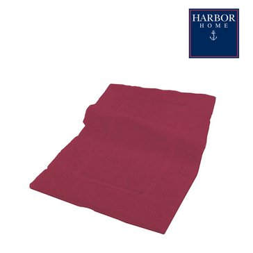 Harbor Home 19x34 Bath Rug, Red