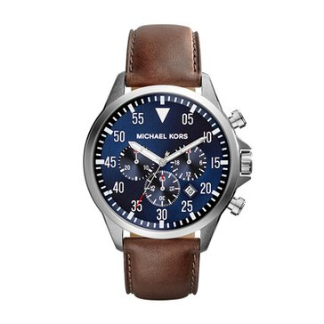 Michael Kors Men's Gage Brown Strap Watch