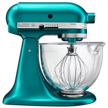 KitchenAid Artisan Design Series 5-Quart Stand Mixer with Glass Bowl - Sea Glass (KSM155GBSA)