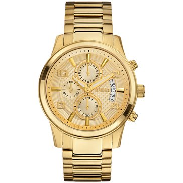 Guess Men's Chronograph Gold Tone Bracelet Watch 44mm